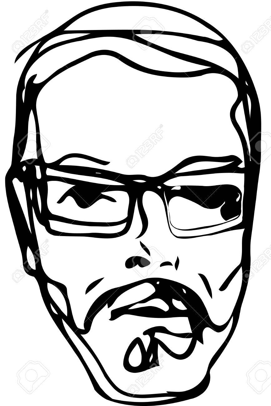 Man With Glasses Drawing