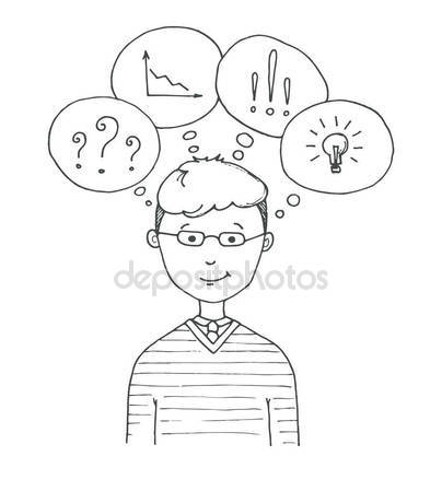 404x449 Young Man Glasses. The Guy Speech Balloons