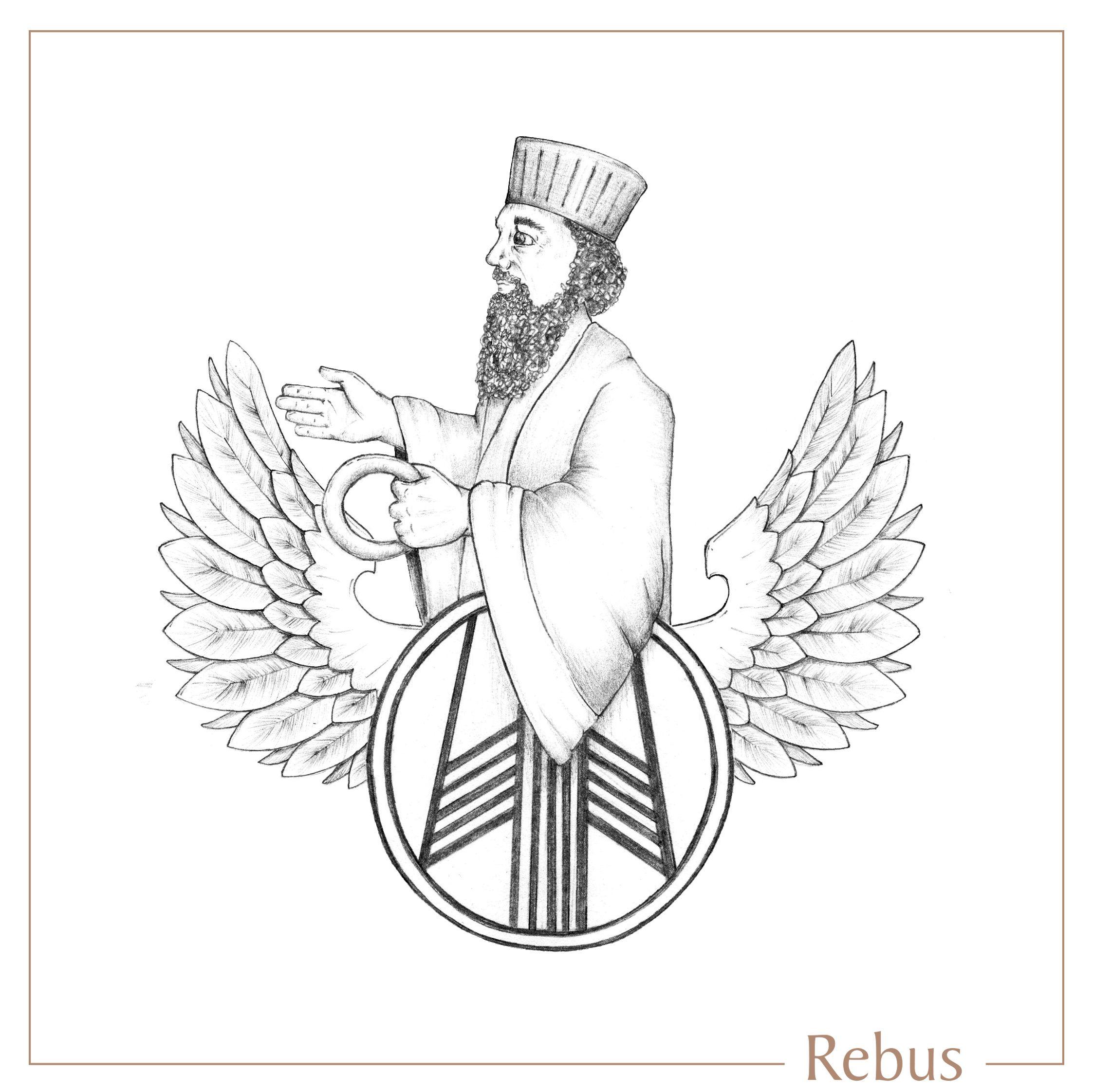 2245x2244 Wings, Man, Sketch, Handmade, Engraved, Design, Signet Ring