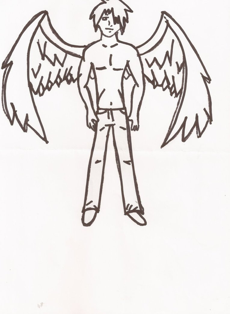 765x1045 Anime Guy With Wings