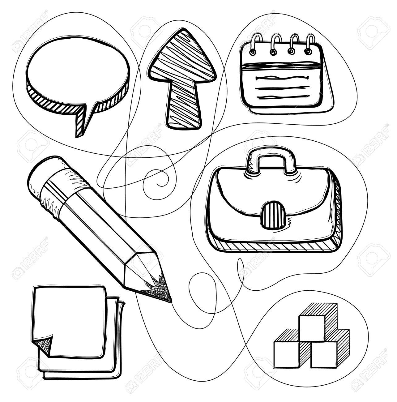 1284x1300 Hand Drawn Management Design Line. Management Business Drawing