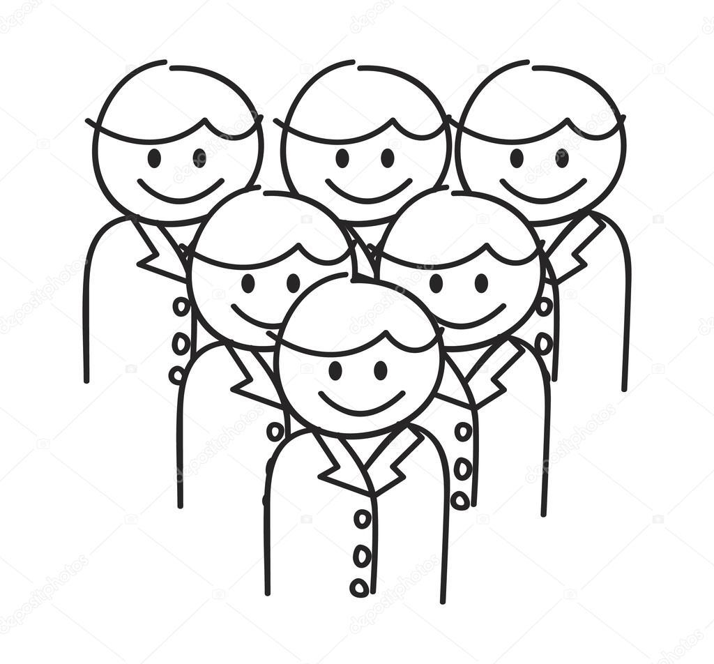 1024x952 Management Team Doodle Stock Vector Mhatzapa