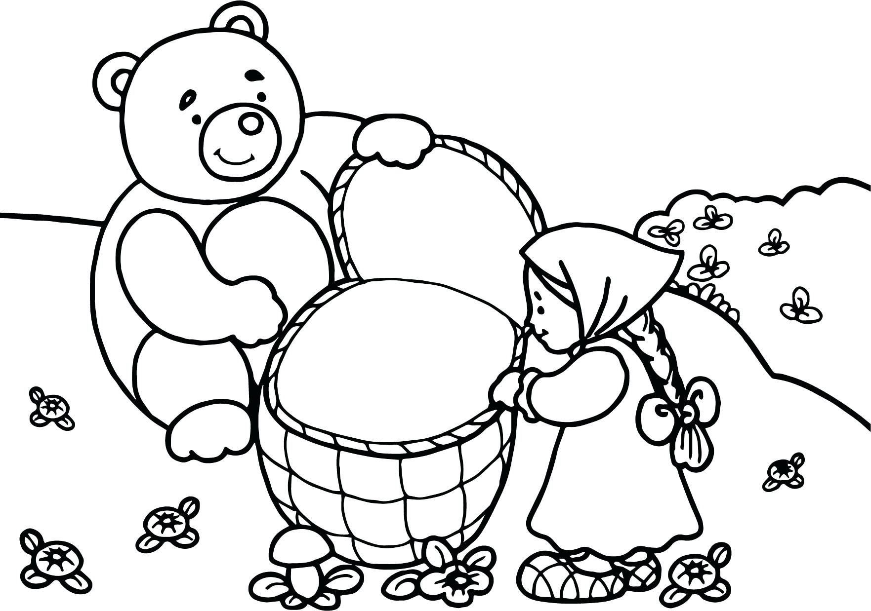 1763x1238 Anger Management Coloring Pages Bear Is Angry Page And Forest