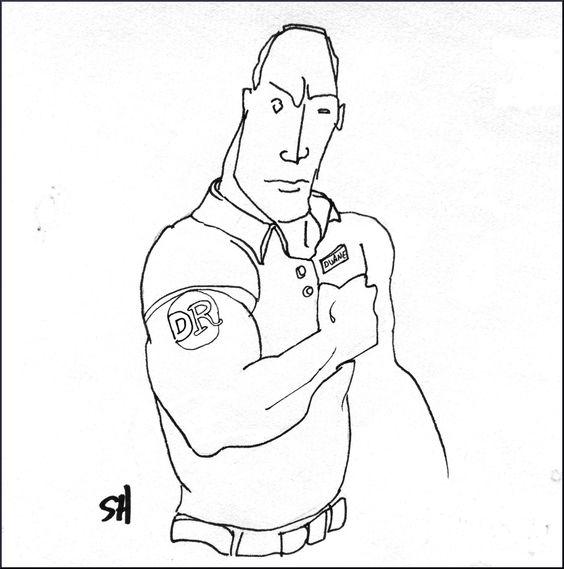 564x569 Duane The Rock Reade, Wrestler, Actor, New York Corner Store