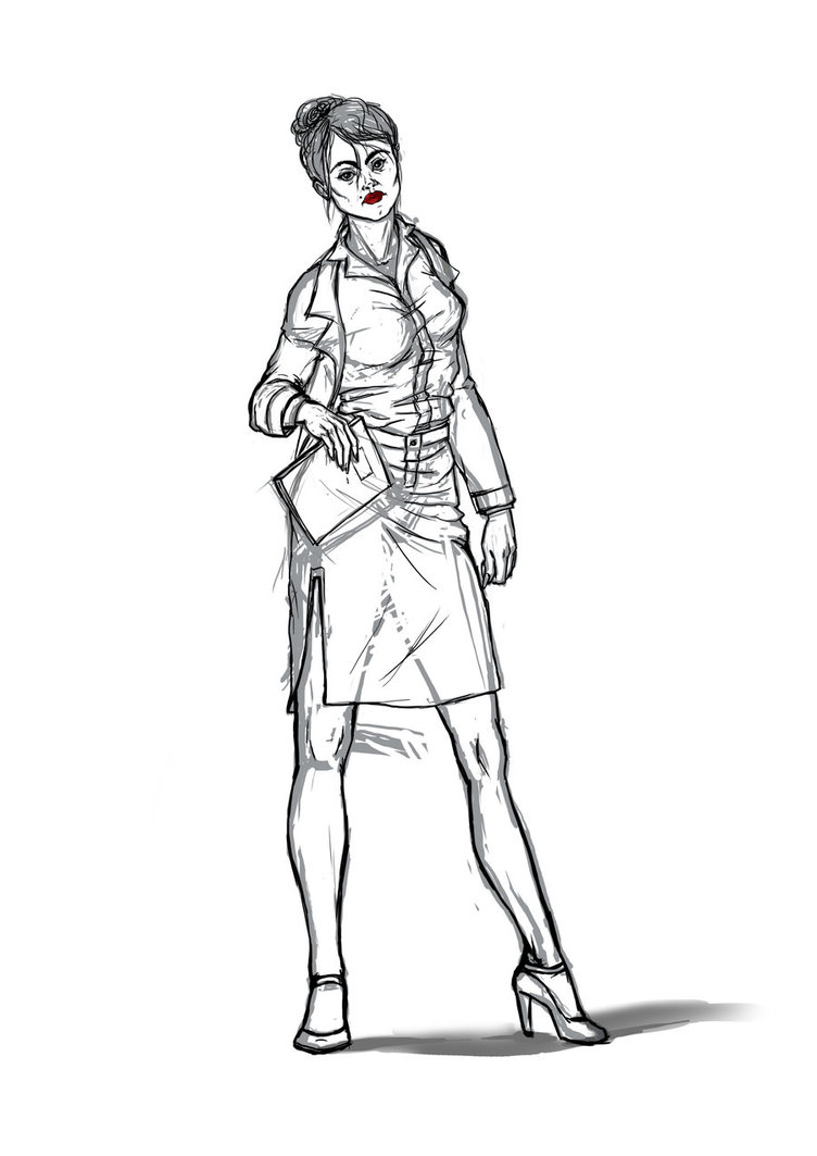 752x1063 Female Manager Sketch By Mshine