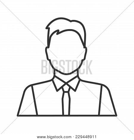 450x470 Office Worker Linear Icon. Party Vector Amp Photo Bigstock