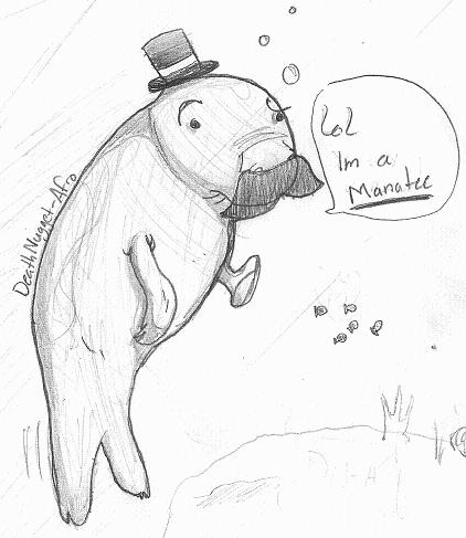 422x487 Random Manatee By Deathnugget Afro