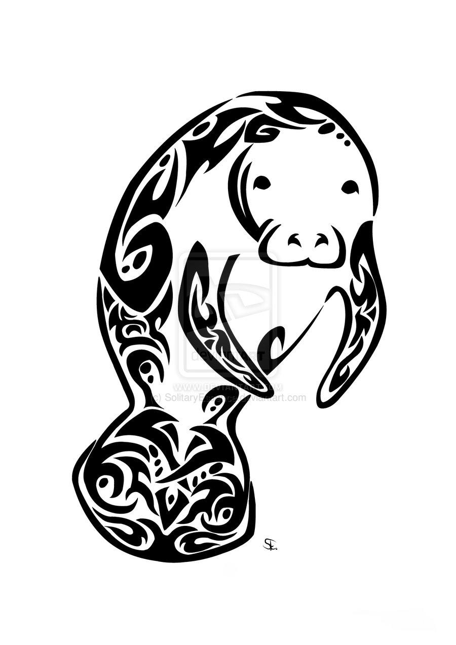 900x1273 Manatee Tattoo Amazionian Manatee Awareness Tribal By