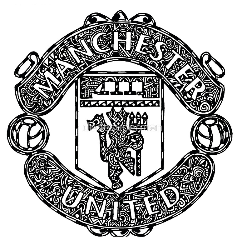 775x800 Manchester United Logo Doodle Posters By Dedesuperman Redbubble