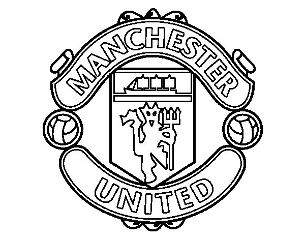 600x470 Manchester United Fc Crest Coloring Page