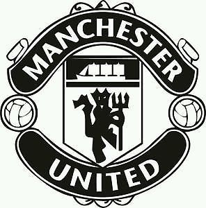 296x300 New Manchester United Car Window Sticker Black Crest Man Utd