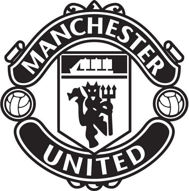 611x620 Manchester United Logo Black And White Theme And Pictures
