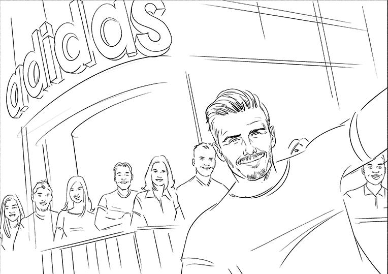 764x539 David Beckham's Selfie Stunt With Adidas
