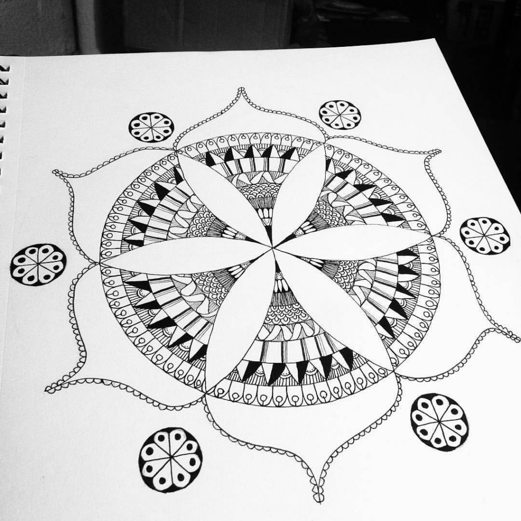 1024x1024 How To Draw Abstract Art From 90scraft Finished Art Artist Mandala