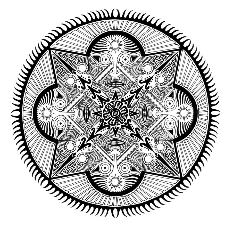 904x884 Inca Mandala By Steveoxley