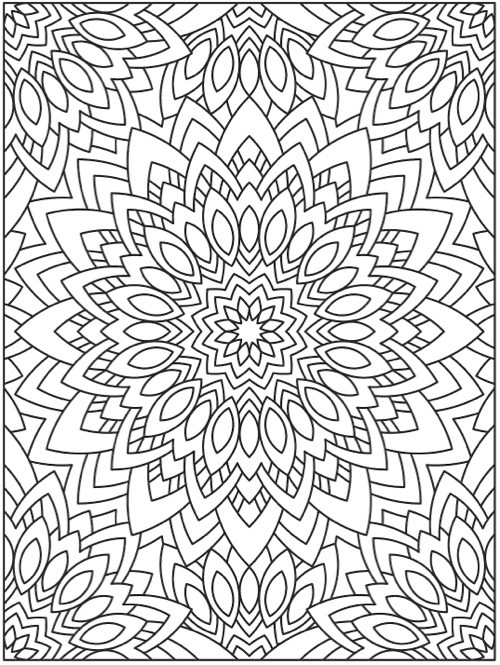 500x665 Mandala Coloring Books Of The Best Coloring Books For Adults