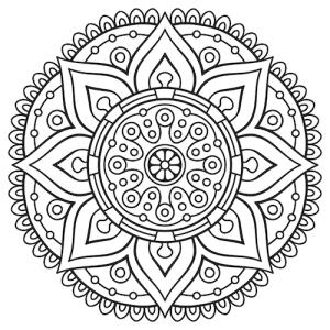 300x300 Mandala Drawing Coloring