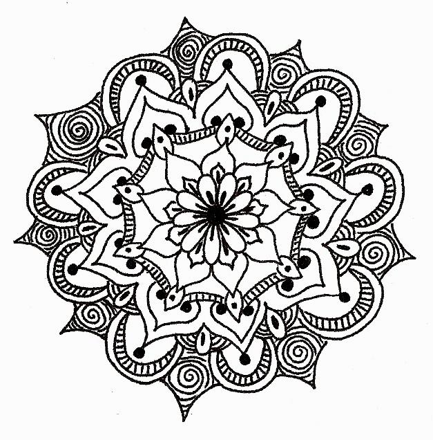627x636 Mandala Monday Doodles The Doodle Daily