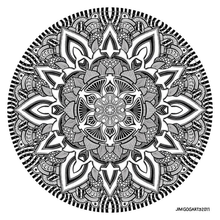 894x894 Mandala Drawing 10 By Mandala Jim