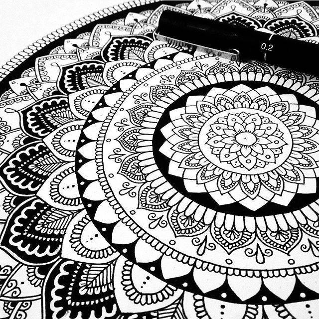 640x640 753 Best Mandalas Images On Draw, Mandala Painting
