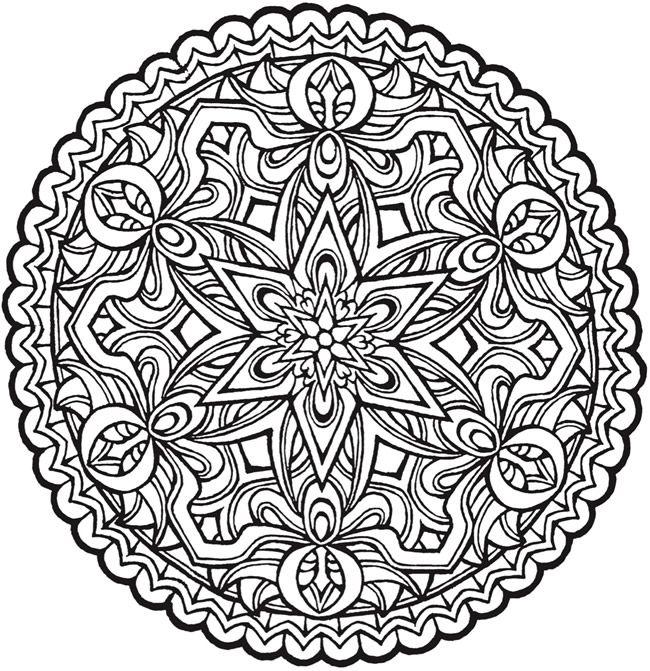 650x671 Unique Mandalas Coloring Pages 70 For Coloring Pages Online