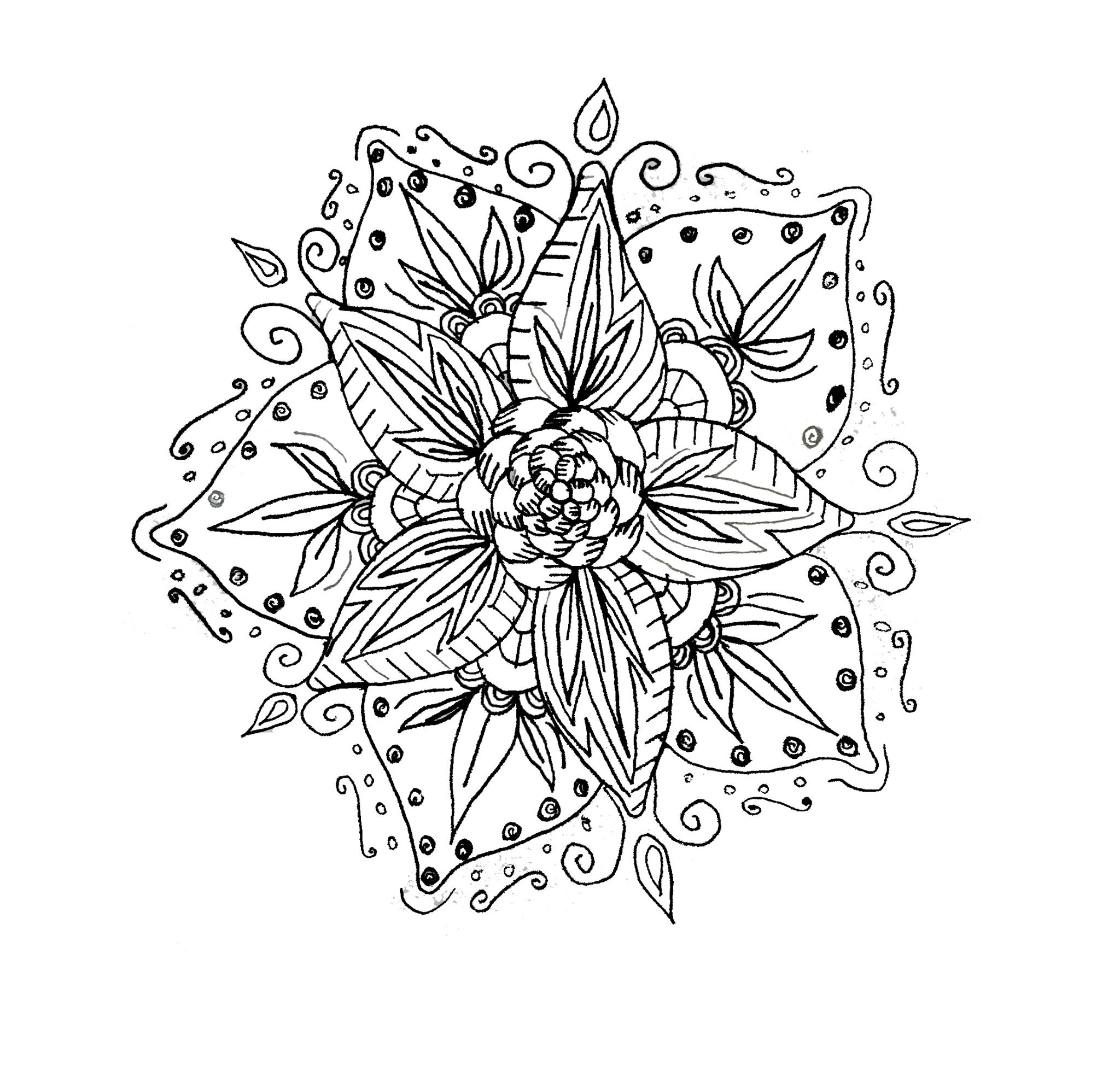 2048x1968 Flower Mandala,mandala,floral,flower,drawing,design, Nsvtwork