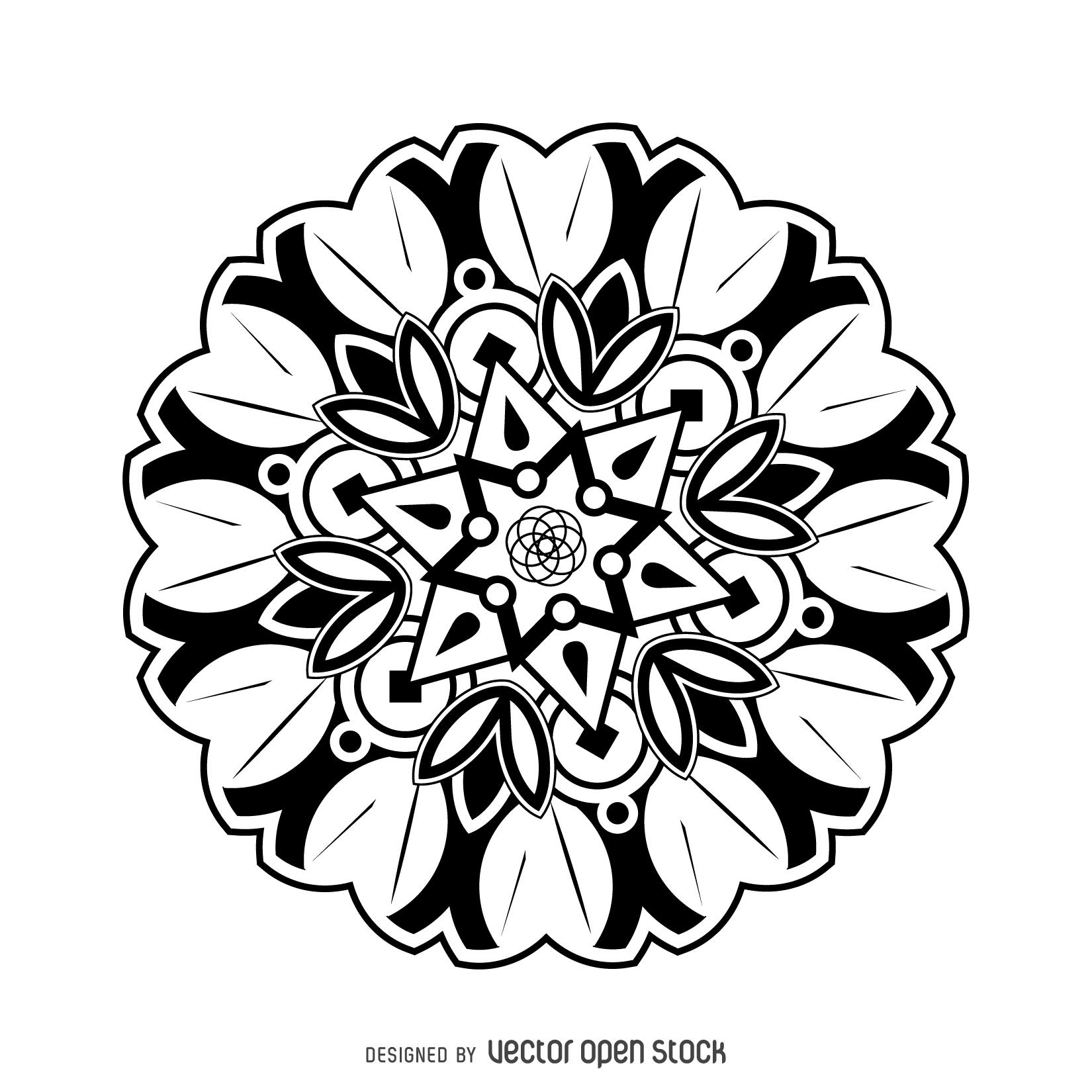 1650x1650 Flower Mandala Drawing