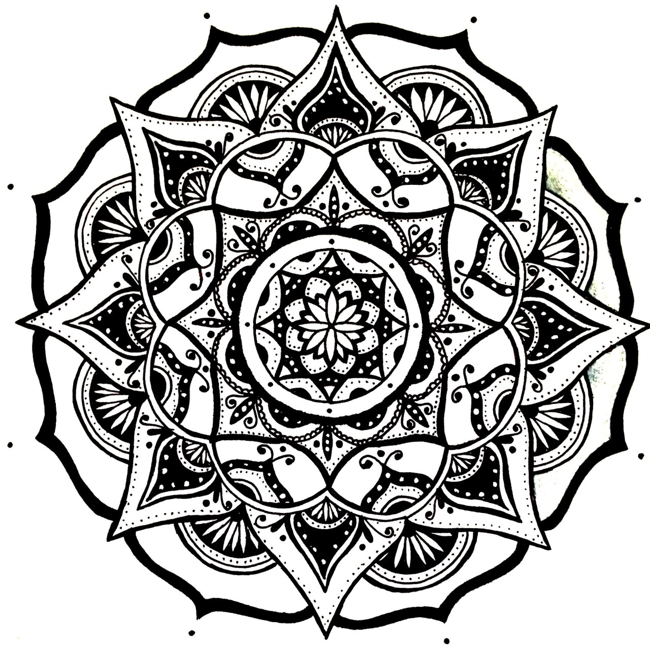 1280x1280 Mandalas Sketch Simple