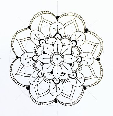 390x400 Step By Step Mandala From A Great Blog Called All The Good