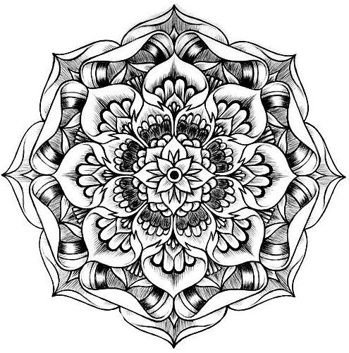 495x500 Therapeutic Coloring Pages