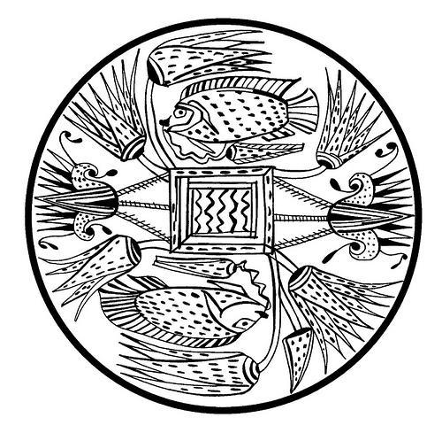 500x489 Tibetan Mandala Designs Ancient Egyptian Fish Amp Stylised Floral