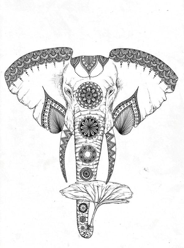 593x800 Mandala Drawing