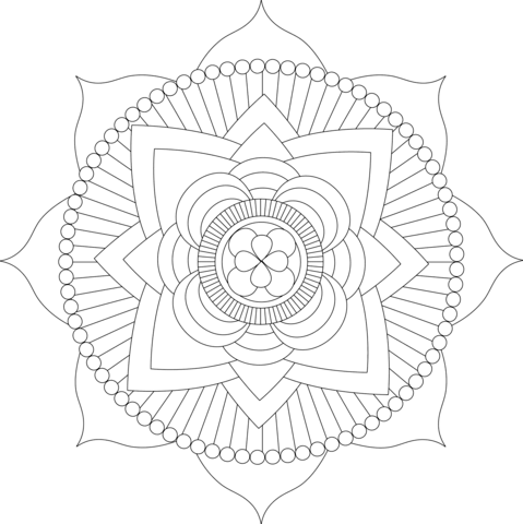479x480 Mandala coloring pages Free Coloring Pages