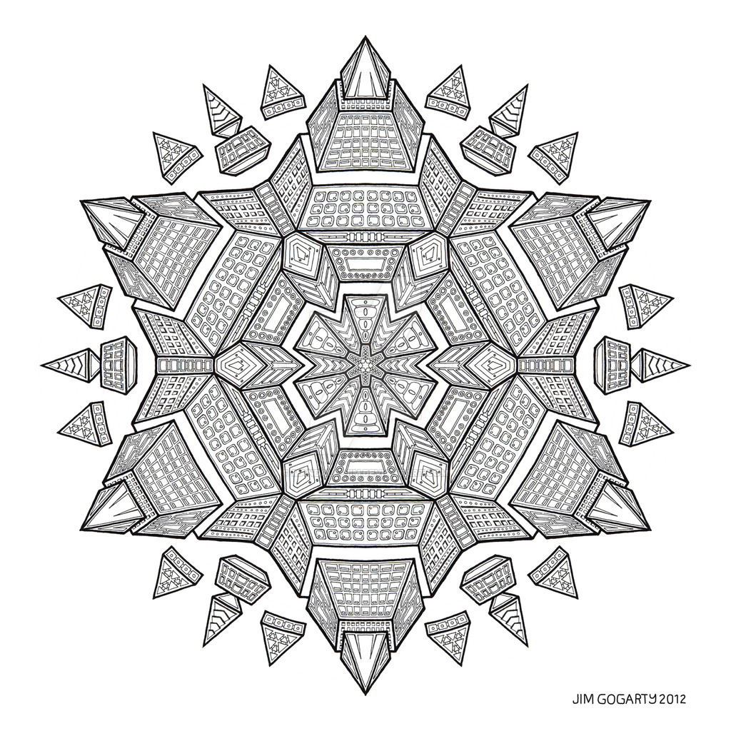 1024x1024 Mandala Drawing 51 By Mandala Jim