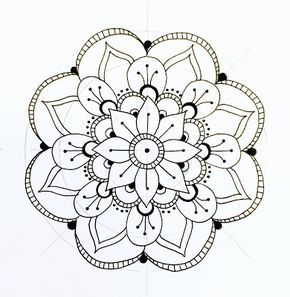 290x297 The 25+ best Easy mandala designs ideas on Pinterest Painting on