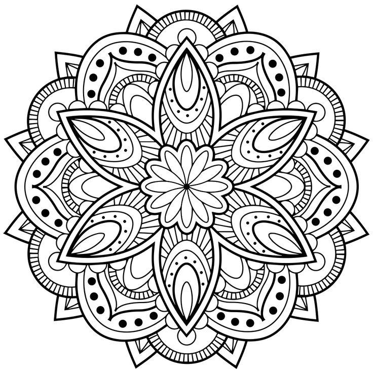 736x736 Coloring Images 25 Unique Mandala Coloring Ideas