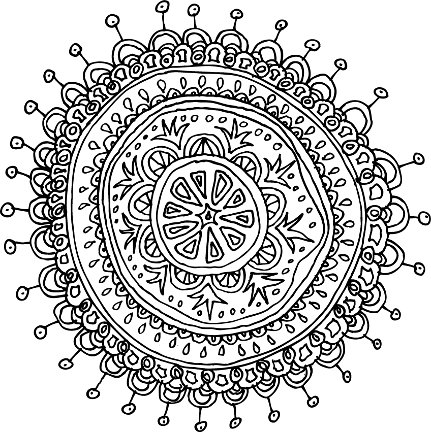 848x851 Mandalas Pattern Of The Day