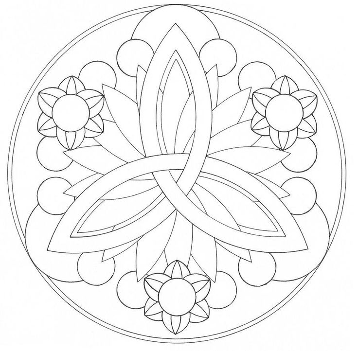 736x722 Easy Mandala Coloring Pages