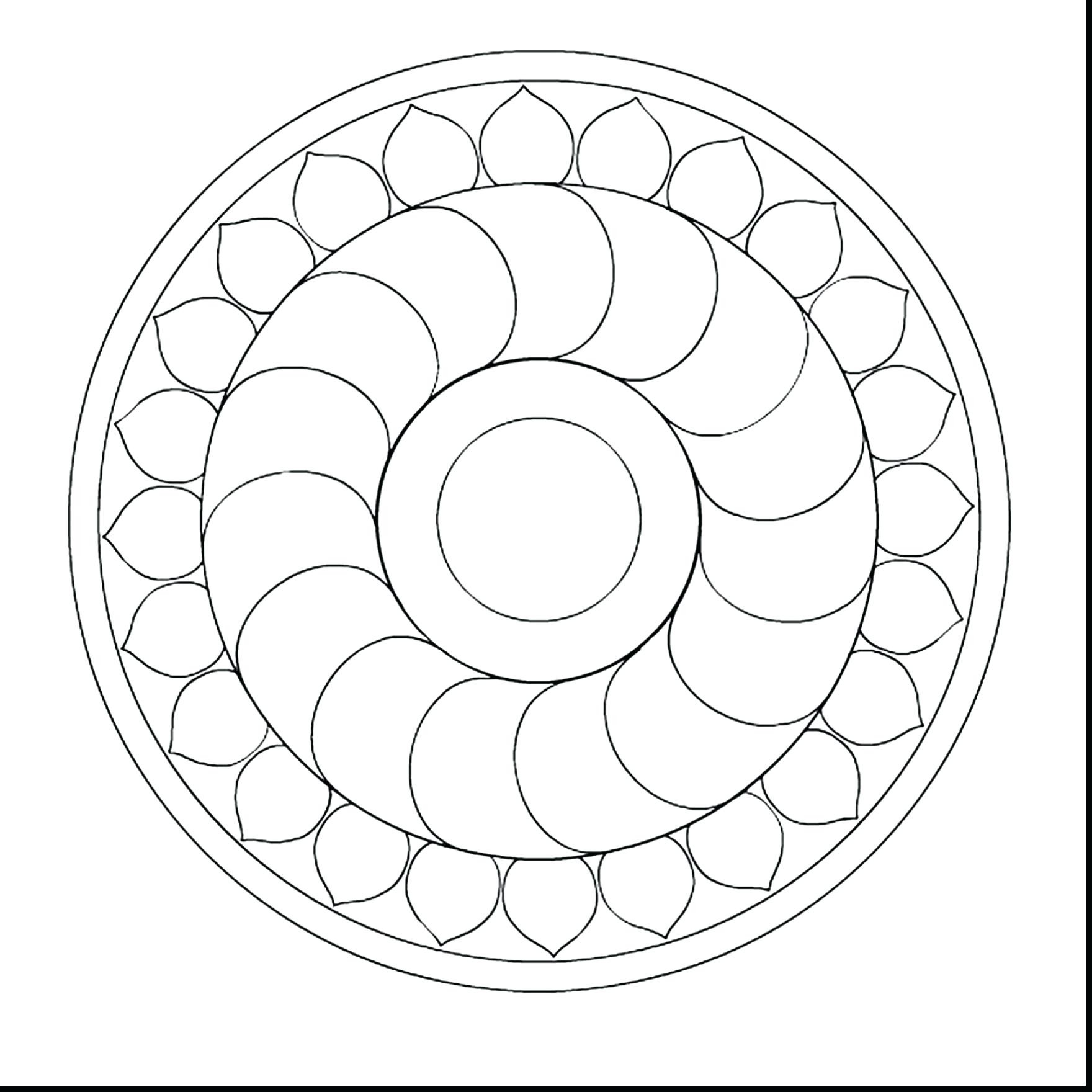 1760x1760 Easy Mandala Coloring Pages Free Draw To Color