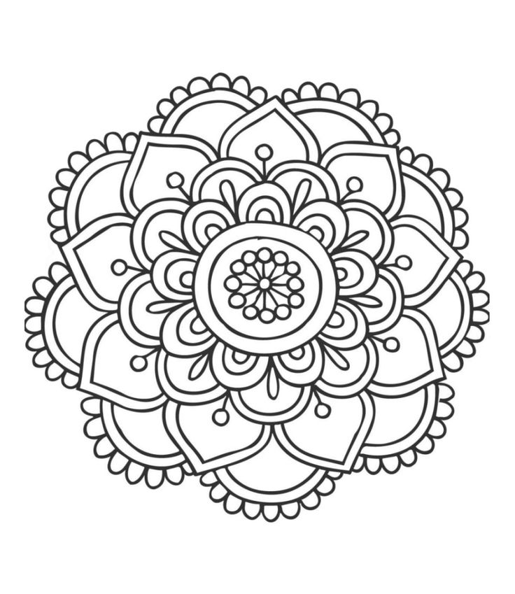 736x849 Easy Mandala Coloring Pages
