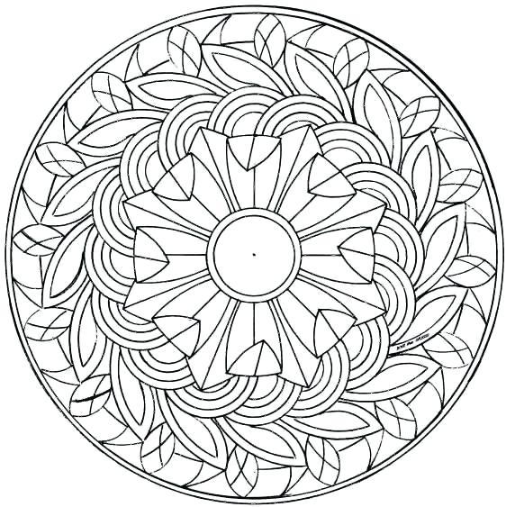 562x563 Free Mandala Coloring Pages Gorgeous Free Printable Adult Coloring