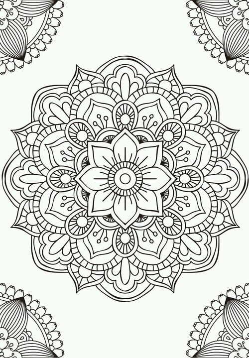 500x719 Ideas Collection Printable Mandala Drawing Easy Also Sheets