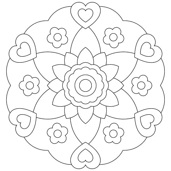 600x600 Coloring Mandalas For Kids Adult Coloring Pages Mandalas In Funny