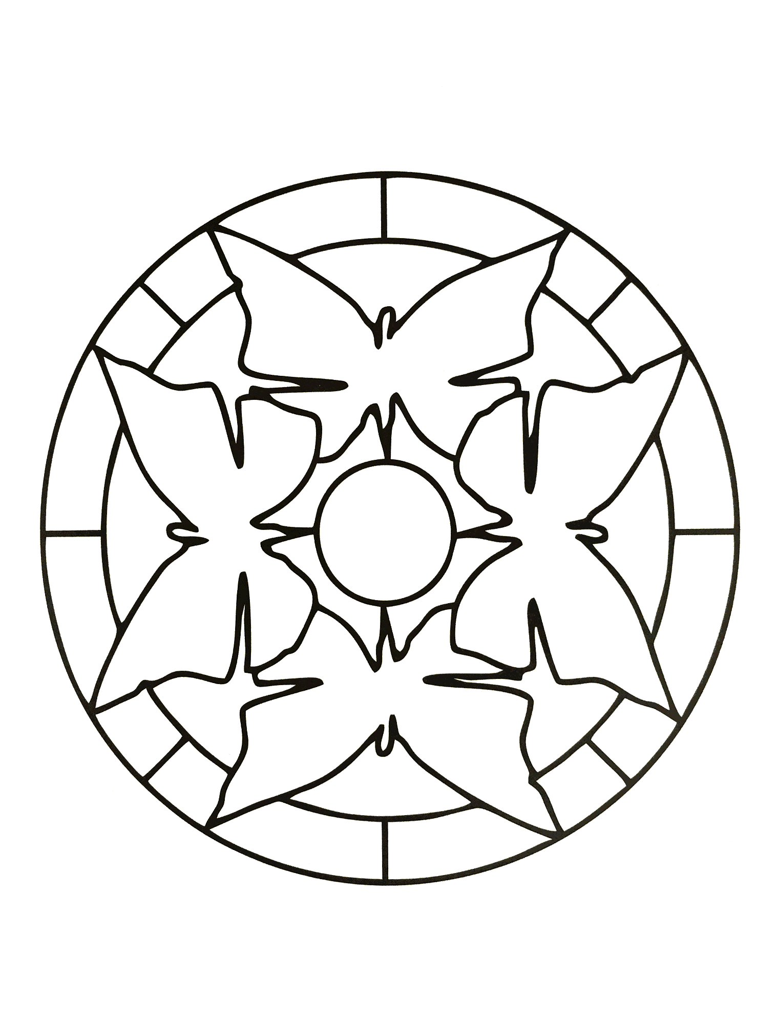 1517x1996 In These Pages, We Offer You Easy Mandala Coloring Pages For Kids