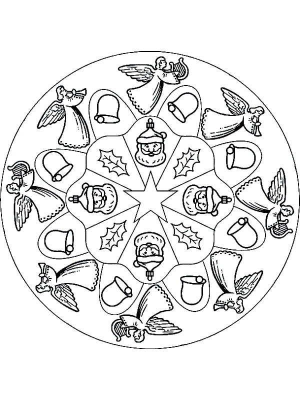 600x800 Mandala Coloring Pages Christmas Coloring Pages