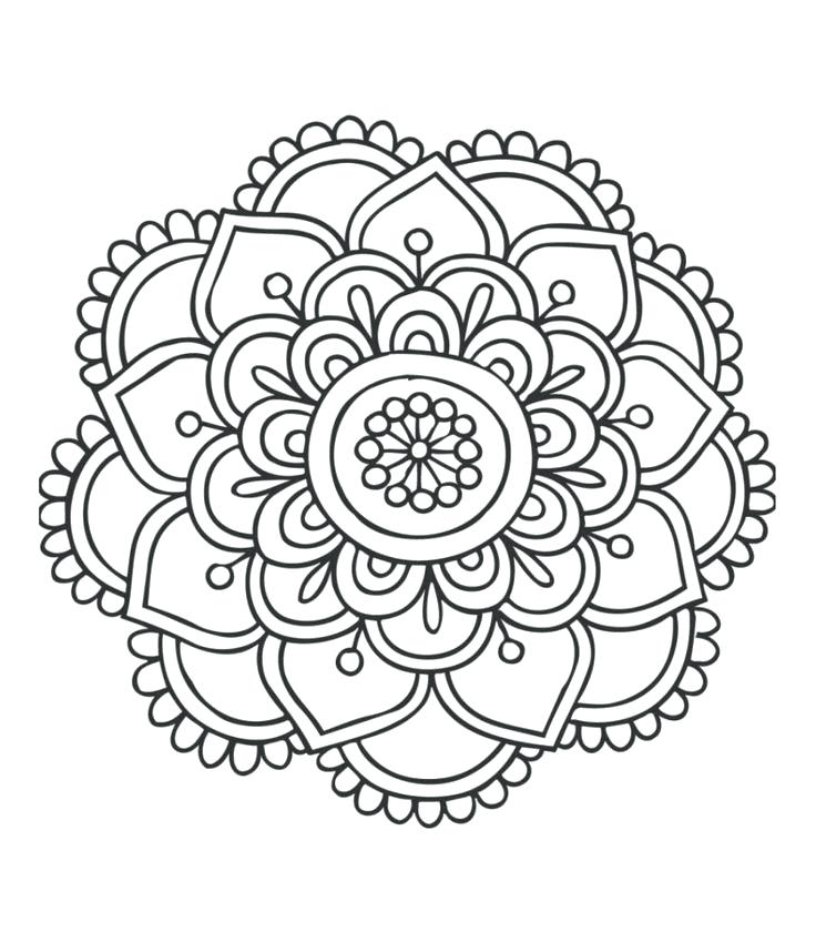 736x849 Coloring Mandalas Kids Download Mandala Coloring Pages