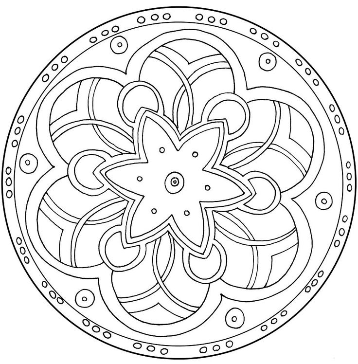 736x748 Mandala Coloring Pages Kids