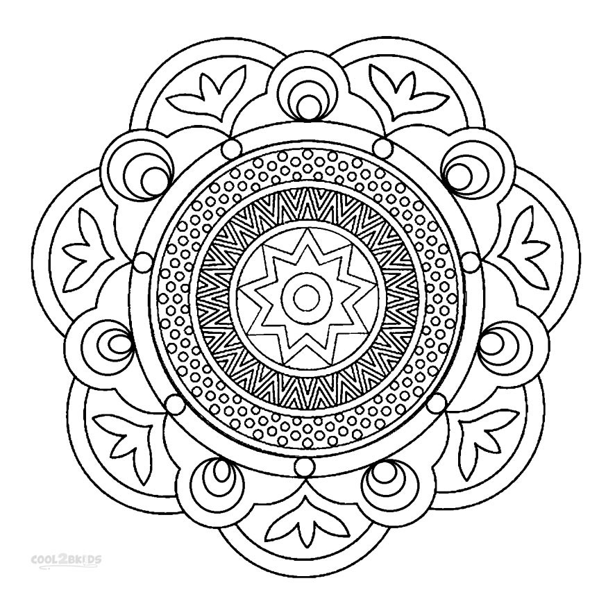 850x850 Printable Mandala Coloring Pages For Kids Cool2bkids