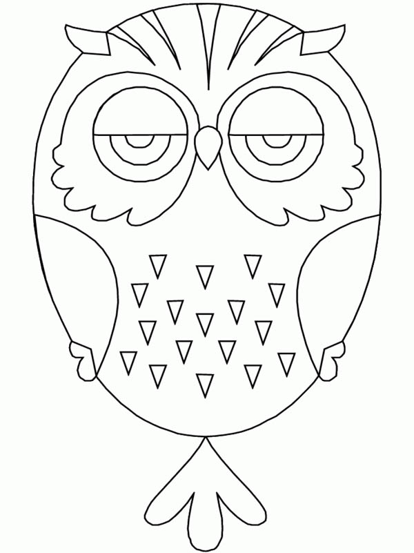 600x801 Owl Mandala For Kids