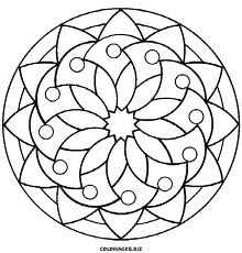 220x230 Simple Mandala Coloring Pages Simple Mandala